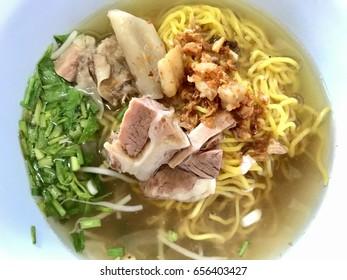 Beef noodle soup,Thailand