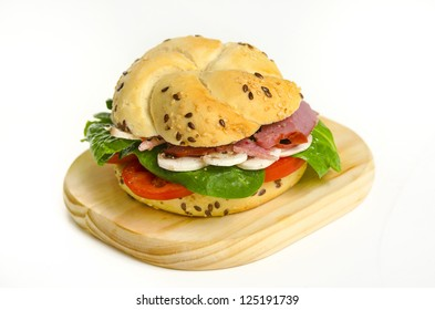 Beef Pastrami Sandwich With Mushrooms