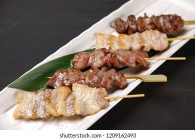beef and pork yakitori skewers combo