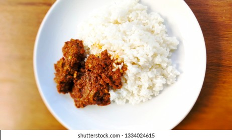 Beef Rendang, Indonesian Tradisional Famous Food From Minang