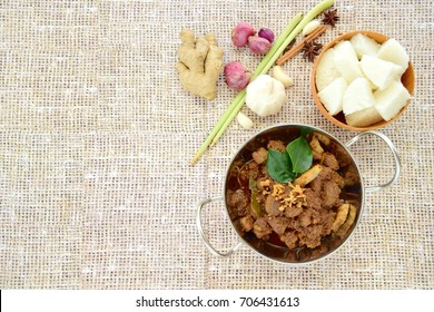 Beef Rendang. The popular Indonesian food, spicy beef stew.