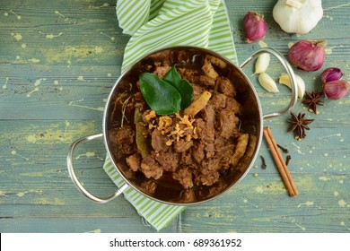 Beef Rendang, spicy meat dish originated from Indonesia