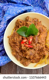 Beef Rendang. Traditional Indonesian dish served during Eid al Fitr or Idul Fitri