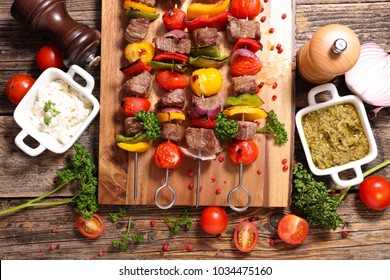 beef skewer barbecue