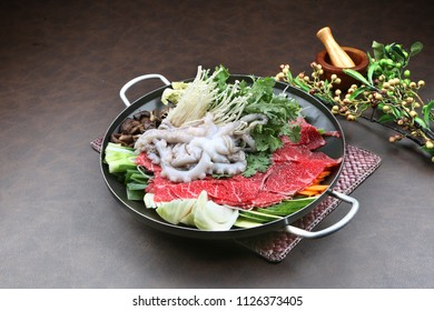 Beef  and small octopus Hot Pots