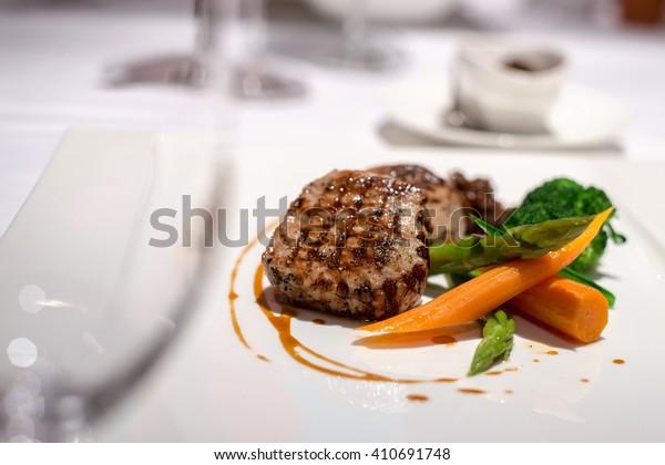 Beef Steak Fine Dining Restaurant Stock Photo (Edit Now ...