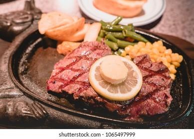 Beef steak in Okinawa,Japan