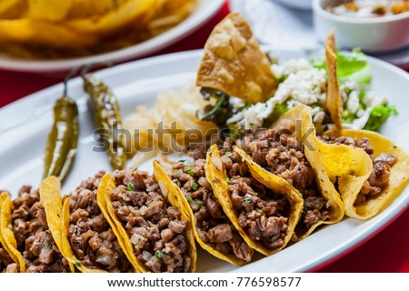 Beef Steak Real Traditional Mexican Tacos Stock Photo Edit Now