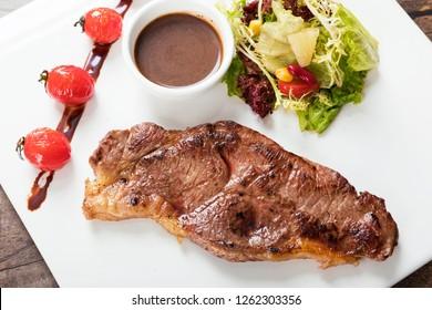 beef steak and Vegetable Salad
