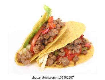 beef taco isolated