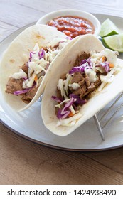 Beef Tacos with Cabbage Slaw