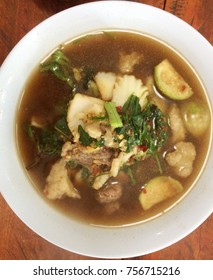 Beef and Vegetable soup: Lao food.