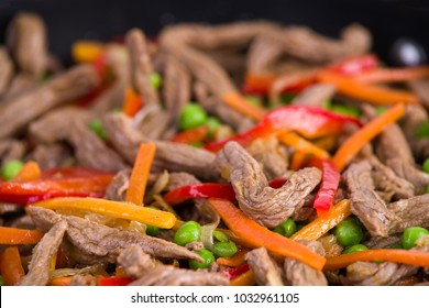 Beef with vegetables and rice