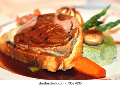 Beef Wellington at the Restaurant