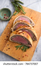 Beef Wellington Slices Ready for Serving