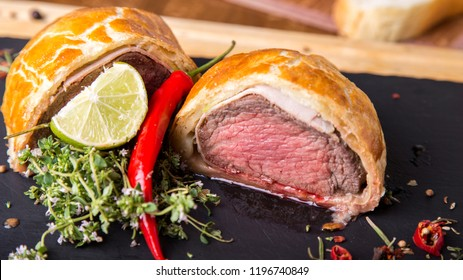 Beef Wellington. Tasty staeak with a pastry crust