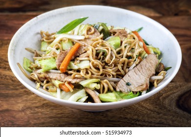 Beef Yakisoba in Bowl