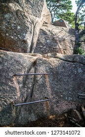 The Beehive Cliff Trail in Acadia National Park, Maine