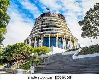 Beehive,  the Executive Wing of the New Zealand Parliament Buildings in Wellington City.