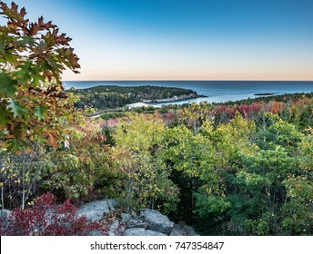 Beehive Trail Overlook with Oak Foliage, Acadia National Park