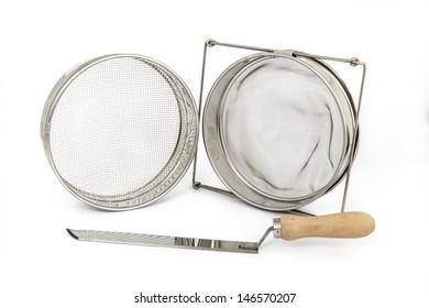 beekeeping equipment, a set off new tools