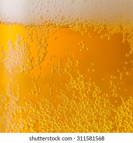 beer background texture with bubbels