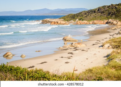 Beer Barrel Beach, St Helens, Bay of Fires, Tasmania,Australia