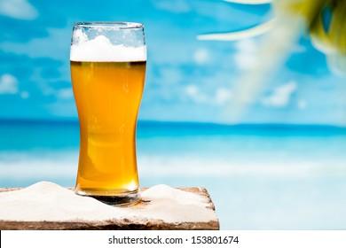 beer at beach