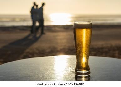 A beer in a beach bar