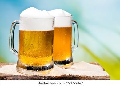 Beer, blue sky