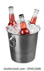 Beer Bottle, Beer, Bucket.