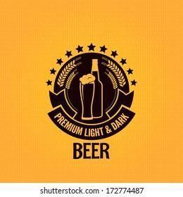 beer bottle glass vintage background illustration
