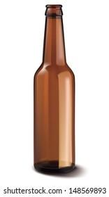 Beer bottle isolated. Illustration