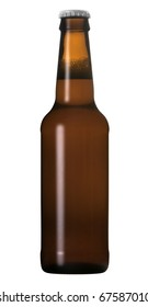 A beer bottle isolated on white with a clipping path