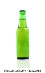 Beer bottle isolated in white background