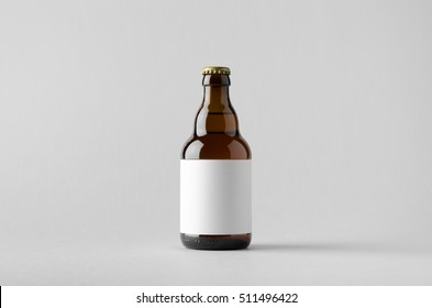 Beer Bottle Mock-Up - Blank Label