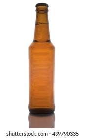 Beer bottle on isolate white background
