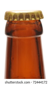 beer bottle on white