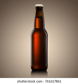 beer bottle on a yellow background