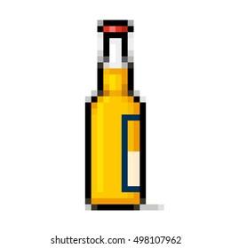 Beer bottle pixel art