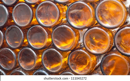 Beer bottles of brown glass,can use  background