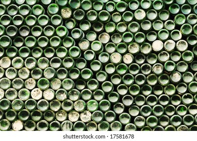 Beer bottles in Chinese recycle station