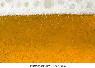 Beer bubble and foam