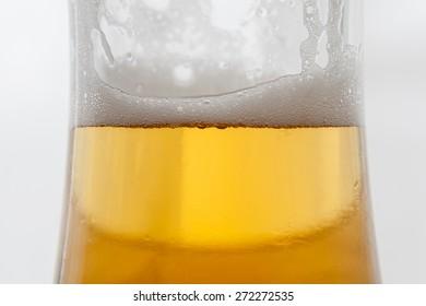Beer bubbles  close-up.
