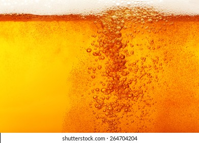 Beer bubbles, macro view