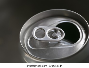 A beer can open.