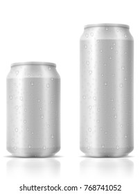 beer in can stock illustration isolated on white background