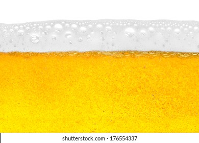 beer in close-up shot
