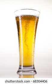 Beer collection, glass in studio