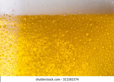 beer with dew drops background texture